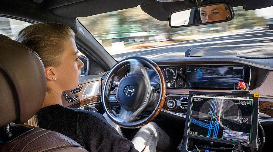 Mercedes-Benz S500 Inteligent Drive TecDay Autonomous Mobility Sunnyvale 2014 ; Mercedes-Benz S500 Inteligent Drive TecDay Autonomous Mobility Sunnyvale 2014;
